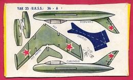 Découpage Paquet De BANANIA - Avion à Monter YAK (URSS) (Russie) ** Aviation De Chasse Objet Publicitaire - Banania