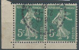 Lot N°58013  Paire Du N°137 Coin De Feuille, Oblit Cachet à Date De Montbert - 1906-38 Semeuse Camée