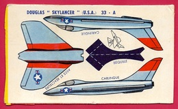 Découpage Paquet De BANANIA - Avion à Monter DOUGLAS SKYLANCER USA ** Aviation De Chasse Objet Publicitaire - Banania