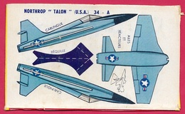 """Découpage Paquet De BANANIA - Avion à Monter NORTHROP """"TALON"""" USA ** Aviation De Chasse Objet Publicitaire - Banania"""