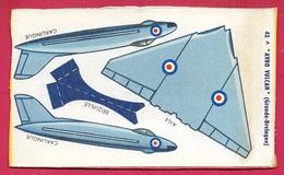 Découpage Paquet De BANANIA - Avion à Monter AVRO VULCAN (UK) ** Aviation De Chasse Objet Publicitaire - Banania