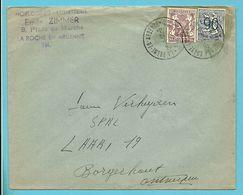 ZEGEL TYPE 714+858 DECOUPE ENTIER (uit Entier Uitgeknipt) Op Brief Stempel LA ROCHE EN ARDENNE - 1935-1949 Small Seal Of The State
