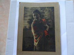 Ancien Portrait D'une Femme Collé Sur Carton D'origine 185 X 130 Mm  TBE - Non Classés
