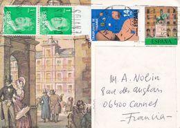 MADRID, PLAZA MAYOR. ESPAGNE ENTIER, CARTE POSTALE. CIRCULEE 1983, MURCIA A CANNES -LILHU - 1931-....