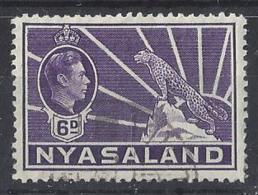 NYASALAND......KING GEORGE VI..(1936-52)......6d.......SG136........VFU. - Nyassaland (1907-1953)