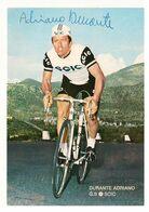 CARTE CYCLISME ADRIANO DURANTE SIGNEE TEAM SCIC 1970 - Cyclisme