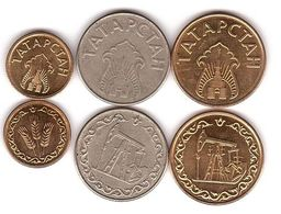 Tatarstan / Russia - Set 3 Coins 1 Kilo 10 20 Litres 1993 XF+ / AUNC Lemberg-Zp - Tatarstan