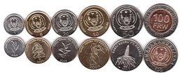 Rwanda - Set 6 Coins 1 5 10 20 50 100 Francs 2003 - 2011 UNC Lemberg-Zp - Rwanda