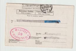 KRIEGSGEFANGENENPOST - GEPRUFT 50 - STALAG VI D à DORTMUND - Arbeitskommando 1107 - 1939-45