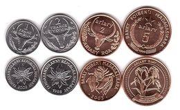 Madagascar - Set 4 Coins 1 2 Francs 2 5 Ariary 1977 - 2003 UNC Lemberg-Zp - Madagaskar