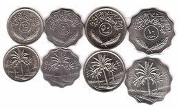 Iraq - Set 4 Coins 5 10 25 50 Fils 1975 - 1990 AUNC Lemberg-Zp - Iraq