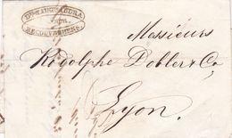 LYON A LYON, ANNEE 1842. FRANCE PRECURSEUR CIRCULEE. FULL CONTENT INSIDE -LILHU - Marcophilie (Lettres)