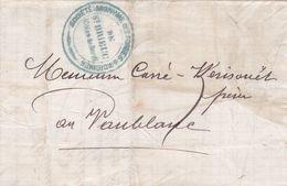 SOCIETE ANONYME DES FORGES SAINT-BRIEUC A VALBONE , ANNEE 1875. FRANCE PRECURSEUR CIRCULEE. FULL CONTENT INSIDE -LILHU - Marcophilie (Lettres)