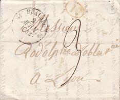 BEAULIEN A LYON, ANNEE 1842. FRANCE PRECURSEUR CIRCULEE. FULL CONTENT INSIDE -LILHU - Marcophilie (Lettres)