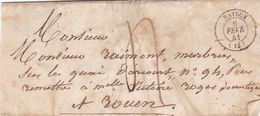 BAYEUX A ROMA, 1841. FRANCE PRECURSEUR CIRCULEE. FULL CONTENT INSIDE -LILHU - Marcophilie (Lettres)
