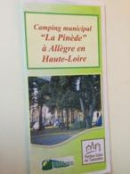 "43 ALLEGRE. Camping Municipal "" La Pinède"". - Folletos Turísticos"