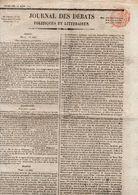 Journal Des Débats Politiques Et Littéraires Du Mercredi 18juin 1824 - Zeitungen