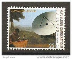 CONGO - 2001 PARABOLA PER LE TELECOMUNICAZIONI Nuovo** MNH - Telekom