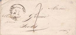COMPIEGNE A SENLIS 1836. FRANCE PRECURSEUR CIRCULEE. FULL CONTENT INSIDE -LILHU - Marcophilie (Lettres)