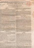 Journal Des Débats Politiques Et Littéraires Du Mercredi 2juin 1824 Avec Un Supplément De 4 Pages - Zeitungen