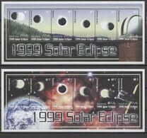 Maldives 2000 Space, Solar Eclipse Set Of 2 Sheetlets MNH - Azië
