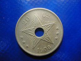 Congo Free State Leopold II  20 Cent 1908 Fine - Congo (Belgisch) & Ruanda-Urundi