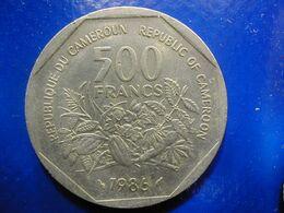 Cameroun Kameroen 500 Fr 1986 Fine - Cameroon
