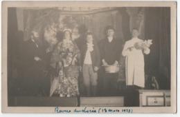 """CARTE PHOTO : REVUE DU LYCEE 13 MARS 1927 - PIECE DE THEATRE AVEC LE """" TUEUR LANDRU """" ? GUILLOTINE EN 1921 - 2 SCANS - - Te Identificeren"""