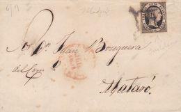 1851-CARTA-Edifil: 6. ISABEL II. MADRID A MATARO - 1850-68 Königreich: Isabella II.