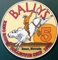 $5 Casino Chip. Bally's, Reno, NV. Rodeo 2002. O71. - Casino