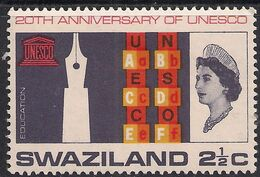 Swaziland 1966 QE2 2 1/2ct Anniversary UNESCO MM SG 121 ( M1165 ) - Swaziland (...-1967)