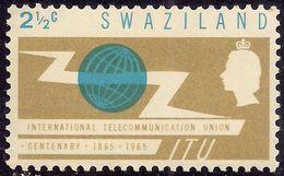 Swaziland 1965 QE2 1 1/2ct Centenary ITU MM SG 113 ( M1205 ) - Swaziland (...-1967)