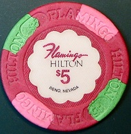 $5 Casino Chip. Flamingo Hilton, Reno, NV. O72. - Casino