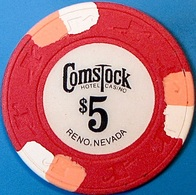 $5 Casino Chip. Comstock, Reno, NV. O73. - Casino