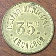 33 ARCACHON CASINO MUNICIPAL EN MÉTAL DE 35 CENTIMES CHIP TOKEN COIN - Casino