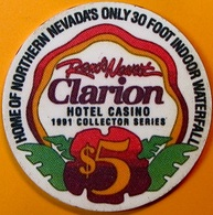 $5 Casino Chip. Clarion, Reno, NV. O74. - Casino