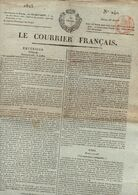 Journal Le Courrier Français N°240 Du Jeudi 28 Août 1823 - Zeitungen