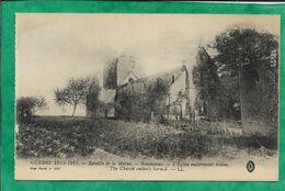 """Sommesous (51) """"L'église Entièrement Brûlée"""" Guerre 1914-15 - 2scans Bataille De La Marne - France"""