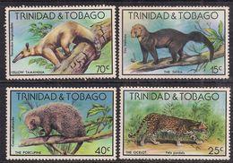 Trinidad & Tobago 1973 QE2 Set Wildlife Umm SG 521 - 524 ( 791 ) - Trinité & Tobago (...-1961)