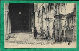 Sermaize-les-Bains 51 Intérieur De L'église Après Le Passage Des Allemands Guerre 1914-15 - 2scans Bataille De La Marne - Sermaize-les-Bains