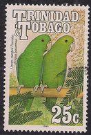 Trinidad & Tobago 1990 QE2 25ct Green Rump Parrotlet Used SG 837 ( L1268 ) - Trinité & Tobago (...-1961)