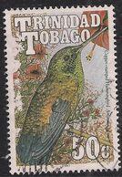 Trinidad & Tobago 1990 QE2 50ct Copper Rump Hummingbird Used SG 839 ( L1251 ) - Trinité & Tobago (...-1961)