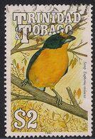 Trinidad & Tobago 1990 QE2 $2 Semp Euphonia Violacea Used SG 841 ( L1138 ) - Trinité & Tobago (...-1961)