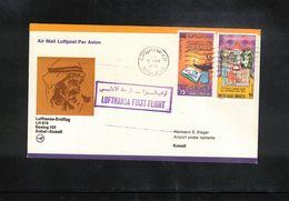 United Arab Emirates 1976 Lufthansa Boeing 707 First Flight Dubai - Kuwait - Dubai