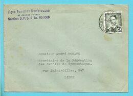 M1 Op Brief Met Stempel POSTES-POSTERIJEN / B.P.S. 6 - Military (M Stamps)