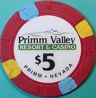 $5 Casino Chip. Primm Valley, Primm, NV. O75. - Casino