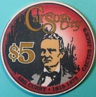 $5 Casino Chip. Cactus Jack's, Carson City, NV. Abe Curry 1993. O75. - Casino