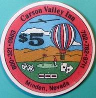 $5 Casino Chip. Carson Valley Inn, Minden, NV. Collector's Edition 1991. O75. - Casino