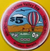 $5 Casino Chip. Carson Valley Inn, Minden, NV. Collector's Edition 1991. O76. - Casino