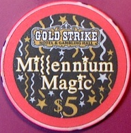 $5 Casino Chip. Gold Strike, Jean, NV. Millennium, Only 1500 Made. O77. - Casino